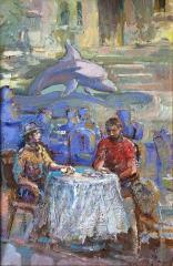Of Dolphin Cafe in Varna / На кафе Делфин във Варна
